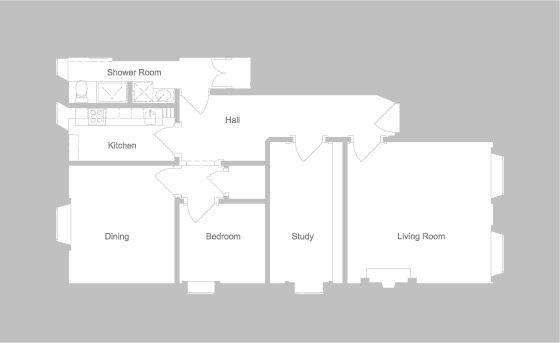 Saxe Coburg Place - plan